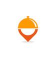 pin food logo icon design vector image vector image