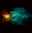polygonal background blue green brown black vector image vector image