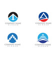 pyramide logo and symbols template icons vector image