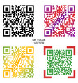qr code multi-colored codes vector image vector image
