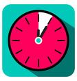 Retro Flat Design Clock - Five Minutes Stop Watch vector image vector image