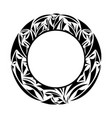 round ornamental frame border vector image vector image