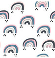 seamless childish pattern with cute rainbow vector image