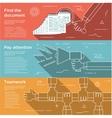 set flat design concepts for business vector image