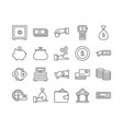 set of 20 business thin line icons vector image vector image
