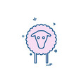 sheep icon design vector image vector image
