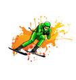 skier flat icon design vector image