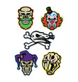 skulls and bones mascot collection vector image vector image