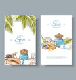 Spa treatment banners vector image vector image