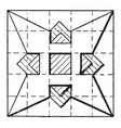 star construction using triangles and squares vector image vector image