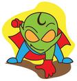 Super Alien vector image