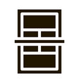 tennis game court icon glyph vector image vector image