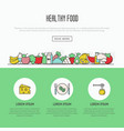 thin line icons concept of organic food vector image