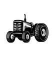 tractor icon isolated on white background vector image vector image