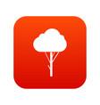 tree icon digital red vector image vector image