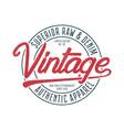 vintage apparel print vector image vector image