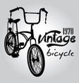 vintage bicycle graphic design vector image vector image