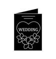 wedding invitation card glyph icon vector image