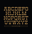 Western typeface alphabet with latin