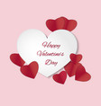 white heart on pink background vector image vector image