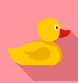yellow bath duck icon flat style vector image
