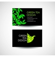 Green Tea logo template Business card desing vector image