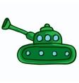 military tank design cartoon kids vector image
