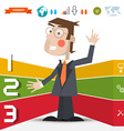 Three Steps Infographic Layout with Business Man vector image