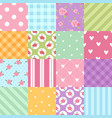 patchwork textile texture seamless clothes pattern vector image