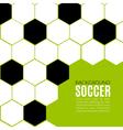 Soccer hexagonal background design template vector image