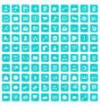 100 viral marketing icons set grunge blue vector image vector image