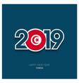 2019 tunisia typography happy new year background vector image vector image