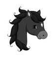 adorable cartoon horse character vector image