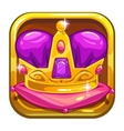 app icon template with golden kings crown vector image vector image