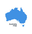 australia map grey isolated background vector image vector image