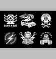 auto service emblem retro style car vector image vector image