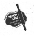 bakery shop concept for badge shirt vector image vector image