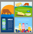 banner dairy food promo ads pictures fresh vector image
