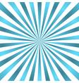Blue white rays poster star burst vector image