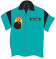 Bowling Shirt vector image vector image
