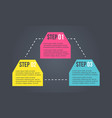 business infographic step colorful design vector image vector image