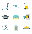 Cargo icons set flat style vector image vector image