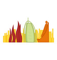 colored cityscape of dubai vector image