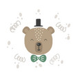 cute with bear baby for baby vector image