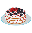 delicious berry cake vector image