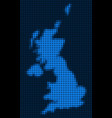 dotted pixel united kingdom map vector image