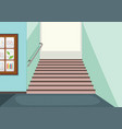 empty hallway staircase background vector image