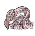 ethnic flamingo vector image