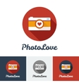 flat modern minimalistic photo studio logo vector image