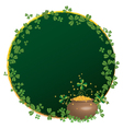 frame for St Patricks Day vector image